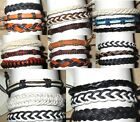 3 BRACELET wristband black cotton hemp leather ANKLET men women FRIENDSHIP new