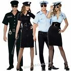 POLICE OFFICER COP MENS & LADIES FANCY DRESS COSTUME SIZE S-XL