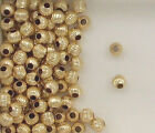 Gold Filled Beads, 4mm Corrugated Round Design, New