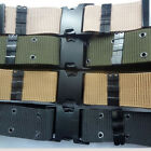 New 130CM Men's Adjustable Tactical Army Military Canvas Outdoor Waist Belt GB07