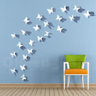 White Black Red 12 24 36pcs 3D DIY Wall Sticker Butterfly Child Room Home Decor