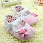 Cute Girl Baby Polka Dot Flower Crib Shoes Infant Cozy Soft Sole Toddler Shoes