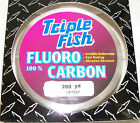 TRIPLE FISH 100% FLUOROCARBON LINE 500 YARD SPOOL CLEAR
