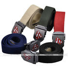 Mens Thick Cotton Canvas Fabric Webbing Waistband Superman Smooth Buckle Belt