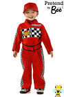 childrens kids boys childs F1 FORMULA ONE RACING DRIVER fancy dress costume