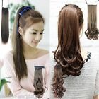 Fashion Ladies Girl Ponytail Hairpiece Hair Extension Wavy Curly Straight Belt