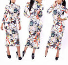 Women Vintage Long Sleeves Stretch Bodycon Long Midi Maxi Dress Cocktail Party