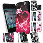 Patterned Case Cover For Iphone 3g 3gs + Screen Protector