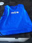 MITRE Pro Football Training Sports Bibs Red, Green or Blue SMENS or JNR