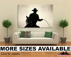 Wall Art Canvas Picture Print - Cowboy at Rodeo Backlit 3.2