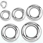 "1 PAIR 12g, 10g, 8g, 6g, 4g, 2g~3/8""- 5/8"" Steel Segment Ring Earrings, Septum"