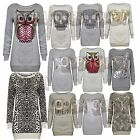 Leopard Knittedtiger Full Sleeves Ladies Sweater Pullover Jumper Top New