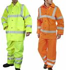 New Lightweight High Visibility Trouser Jacket Set Yellow or Orange Small - 6XL