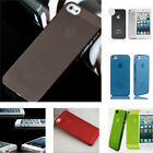1XClear 0.5mm Ultra Thin Matte Back Hard Plastic Case Cover Skin For iPhone 5 5s