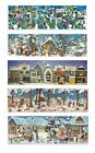 Panoramic Advent Calendar Card & envelope - traditional german design 305x100 mm
