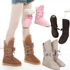 Womens Lady Girls Winter Warm Lace Flat Snow Boots Shoes Size US 4.5-9, 5 Colors