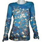 VINCENT VAN GOGH Blossom Almond Bloom Tree PAINTING LS T SHIRT FINE ART PRINT *