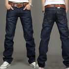 New Fashion Men Stylish Straight Regular Fit Trousers Casual Denim Jeans Pants