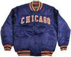 NWT Escapism Chicago Bears Cubs Sports  Letterman Jacket Men's coat blue