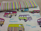 "designer curtain/upholstery fabric,camper  van/multicolour ,54"" wide, multicolou"