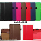 "New Amazon Kindle Fire HDX 7"" 8.9"" inch PU Leather Folio Stand Case Smart Cover"