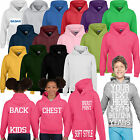 Kids Children Personalised Custom Printed Hoody Hoodie Printing Design Your Own
