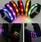 6 COLOURS LED ARM BAND FLASHING SAFETY CYCLING OUTDOOR SPORTS RUNNING ARMBAND