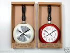 Sass & Belle Kitchen Wall Clock Frying Pan Style - Cream or Red available