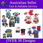 Baby Boy & Girls Romper Bodysuit Onesies Tuxdeo Disney Superman hero Batman
