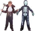 Boys Girls Vampire & Skeleton Outfits Costume Horror Halloween Smyths NEW 4-10yr