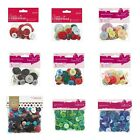 Papermania assorted mixed craft sewing buttons CHOOSE 250g 50g grab bag