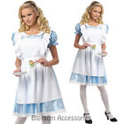 C494 Classic Alice in Wonderland Fairytale Adult Ladies Fancy Dress Up Costume