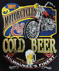 T-Shirt #597 MOTORCYCLES COLD BEER Biker Hot Rod Dragster Pin Up V8 TATTOO