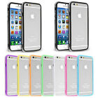 """New Bumper TPU Gel Silicone Case Cover for iPhone 6 4.7"""" Plus 5.5"""" Metal Button"""