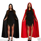 CHRISTMAS  Adult Unisex Devil Velvet Cape Black or Red Costume Fancy Dress Party