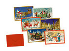 Miniature Tiny Advent Calendar Cards with envelope - traditional German designs