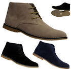 NEW MENS FAUX SUEDE LEATHER BOOTS LACE UP ANKLE TRAINERS SHOES SIZE UK 7 - 12