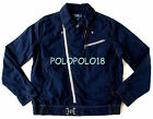 New $395 Polo Ralph Lauren Logo Windbreaker Jacket Navy XL