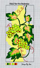 """""""GREEN GRAPES GALORE""""--Zweigart Mono Deluxe Needlepoint Canvas: 7""""x14"""""""