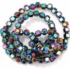 Various Color A Strand (about 100pcs) Plated Hematite Gemstone Spacer Beads ,4mm