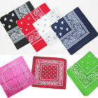 Cotton Paisley Bandanas Head Wrap Bikers Scarf Wristband headband Handkerchief