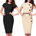 Sexy Womens Ladies Business Pencil Bodycon Formal Evening Cocktail Party Dresses