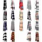 Retro Classic Fashion Checker Tassel Long Warm Scarf Soft Wrap Shawl Stole New