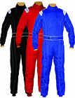 KIDS/CHILDREN  KARTING/RACE OVERALL/SUITS POLYCOTTON MATERIAL ALL INDOOR/OUTDOOR