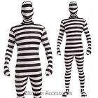 CL104 Prisoner Disappearing Man Full Body Suit Zentai Bucks Halloween Costume