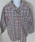 GYMBOREE Boy's Junior Racer Plaid Button Down Shirt Size S(5-6)