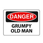 Danger Grumpy Old Man new funny tshirt sign safety high work vis wear viz fluoro