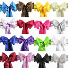 New Wedding Party Banquet 6x108inch Satin Chair Cover Sash Bow Decoration X10