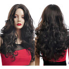 Women Fashion Weave Long Curly Straight Hair Wigs Cosplay Party Wig Parted Bang
