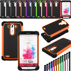 Rugged Hybrid Impact Protective Hard Armor Box Soft Case Cover For LG G3 D850